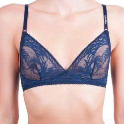 Dámská podprsenka Calvin Klein Sculpted slipcover triangle tmavě modrá