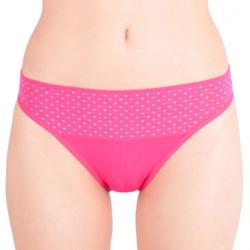 Dámské kalhotky Gina bamboo bezešvé růžové s puntíky