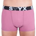 Pánské boxerky Styx sportovní guma růžové (G9)