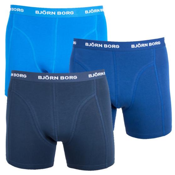 3PACK pánské boxerky Bjorn Borg modré (9999-1024-71191)