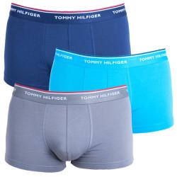 3PACK pánské boxerky Tommy Hilfiger low rise trunk šedo modré