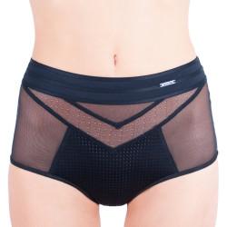 Dámské kalhotky Calvin Klein Mixes mesh high waist černé