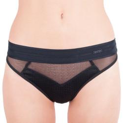Dámská tanga Calvin Klein Mixed Mesh černé