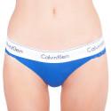 Dámská tanga Calvin Klein modrá (QF4585E-PZ6)