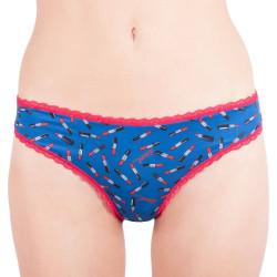 Dámské kalhotky Diesel bonita modré s rtěnkami