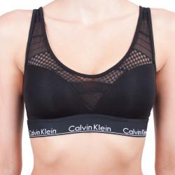 Dámská podprsenka Calvin Klein Modern cotton stripe lace černá
