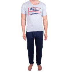 Pánské dlouhé pyžamo Molvy s vlajkou (KT-070)
