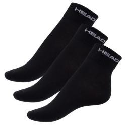 3PACK ponožky HEAD quarter černé
