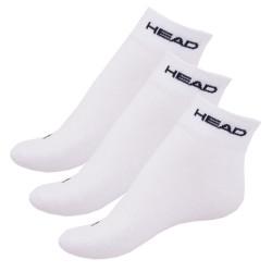 3PACK ponožky HEAD quarter bílé