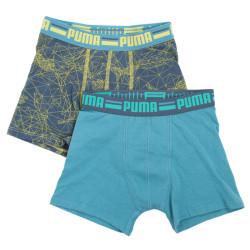 2PACK chlapecké boxerky Puma dark slate