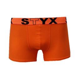 Pánské boxerky Styx sportovní guma oranžové (G661)