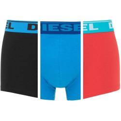 3PACK pánské boxerky Diesel UMBX černo modro červené