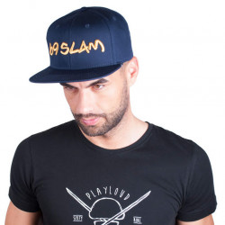 Kšiltovka 69SLAM logo - JP tmavě modrá se zlatým nápisem