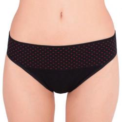 Dámské kalhotky Gina bamboo bezešvé černé s puntíky