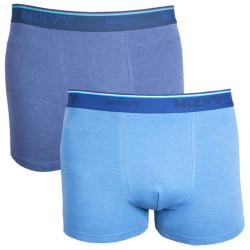 2PACK pánské boxerky Molvy tmavě a světle modré
