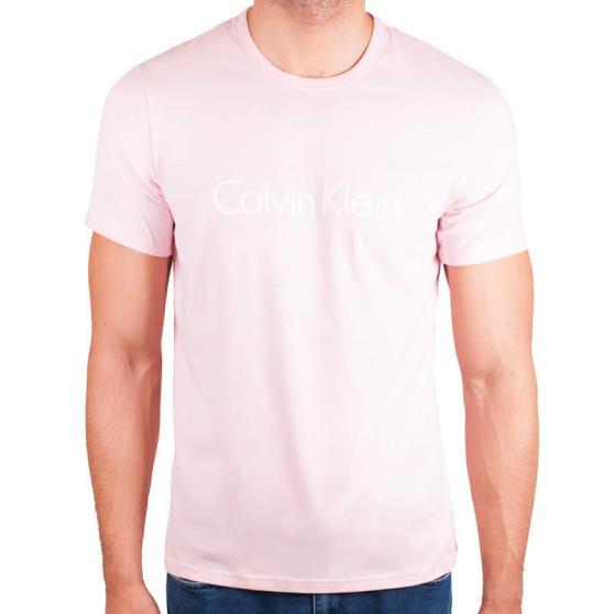 Pánské tričko Calvin Klein růžové (NM1129E-EVK)