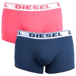 2PACK pánské boxerky Diesel UMBX růžovo modré