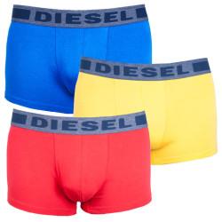 3PACK pánské boxerky Diesel UMBX žluto červeno modré