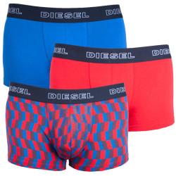 3PACK pánské boxerky Diesel UMBX červeno modré