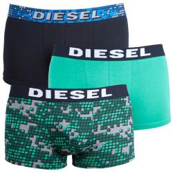 3PACK pánské boxerky Diesel UMBX zeleno černé
