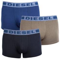 3PACK pánské boxerky Diesel UMBX modro zeleno černé