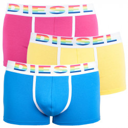 3PACK pánské boxerky Diesel UMBX barevné s bílou gumou
