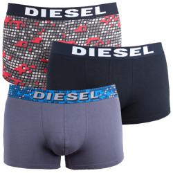 3PACK pánské boxerky Diesel UMBX s šedými kostičkami