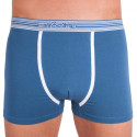 Pánské boxerky Molvy modré s bílými pruhy