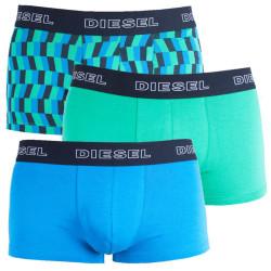 3PACK pánské boxerky Diesel UMBX zeleno modré