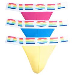 3PACK pánské jocksy Diesel žluto modro růžové