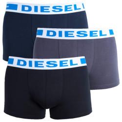 3PACK Pánské boxerky Diesel UMBX modro šedo černé