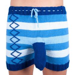 Ručně pletené trenky Infantia modré pruhy