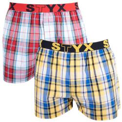 2PACK pánské trenky Styx sportovní guma vícebarevné (2B2)