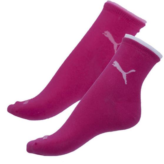 2PACK ponožky Puma tmavě růžové (203201001 477)