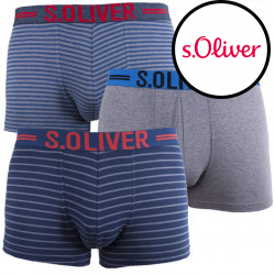 3PACK pánské boxerky S.Oliver vícebarevné (26.899.97.4241 16B3)