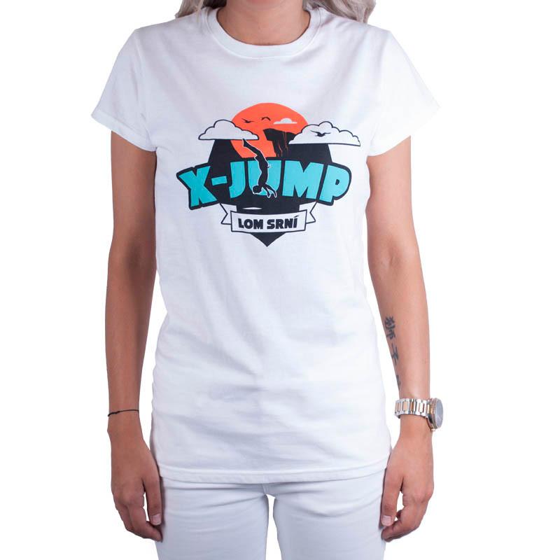 Dámské tričko X-jump bílé M