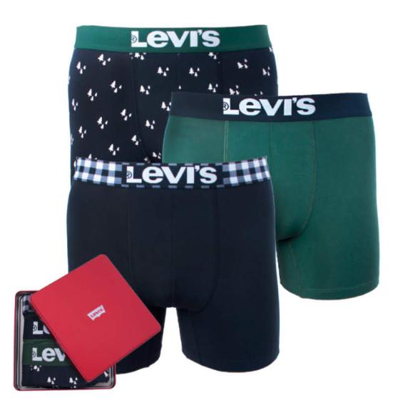 3PACK pánské boxerky Levis vícebarevné (985023001 602)