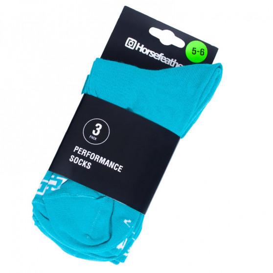 3PACK ponožky Horsefeathers zelené (AW017A)