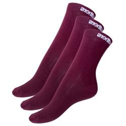 3PACK ponožky Horsefeathers červené (AW017C)
