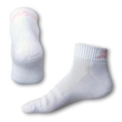 Ponožky Styx fit bílé s růžovým nápisem (H232)