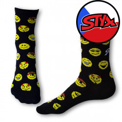Ponožky Styx crazy smajlíci (H329)