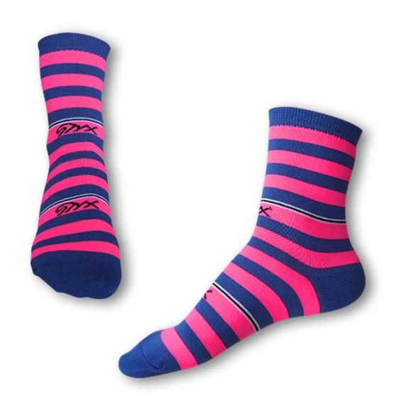 Ponožky Styx crazy modro růžové proužky (H321)