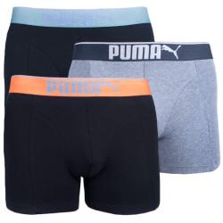 3PACK pánské boxerky Puma vícebarevné (681030001 318)