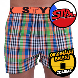 Pánské trenky Styx sportovní guma vícebarevné (B714)
