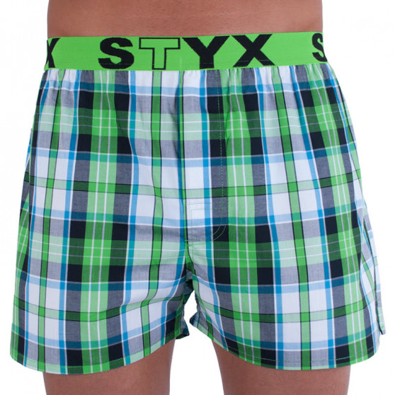 Pánské trenky Styx sportovní guma vícebarevné (B718)