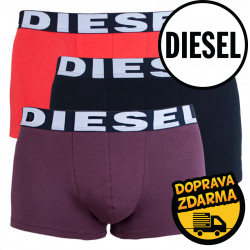 3PACK pánské boxerky Diesel vícebarevné (00SAB2-0AAMT-25)