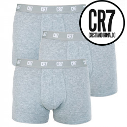 3PACK pánské boxerky CR7 šedé (8100-49-700)