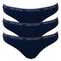 3PACK dámská tanga Tommy Hilfiger tmavě modrá (UW0UW00048 416)