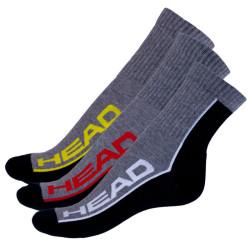 3PACK Ponožky HEAD vícebarevné (781010001 899)