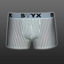 Pánské boxerky Styx sportovní guma nadrozměr bílé (R263)